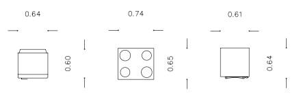 Σχήμα 5.2: Διαστάσεις ηλεκτρικών συσκευών (ψυγείο, κουζίνα, πλυντήριο ρούχων)