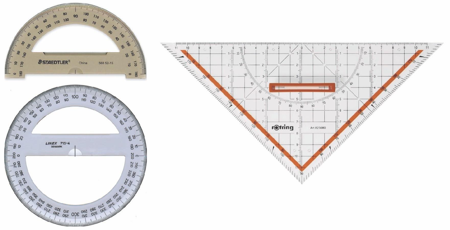Σχήμα 3.10: Μοιρογνωμόνια και το τρίγωνο GEO.