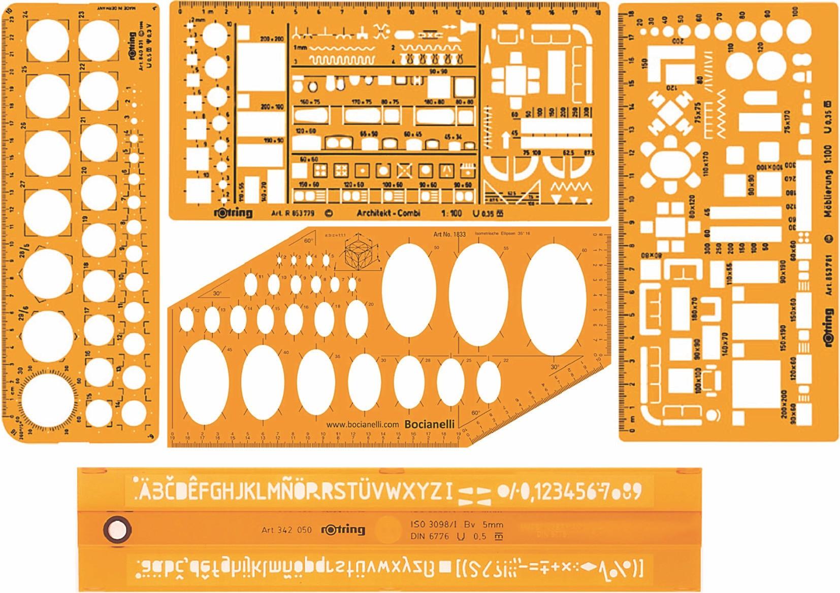 Σχήμα 3.13: Διάφοροι τύποι στένσιλ.