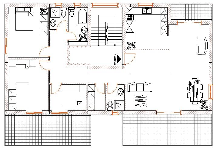 Σχήμα 5.3α: Κάτοψη οικοδομής.