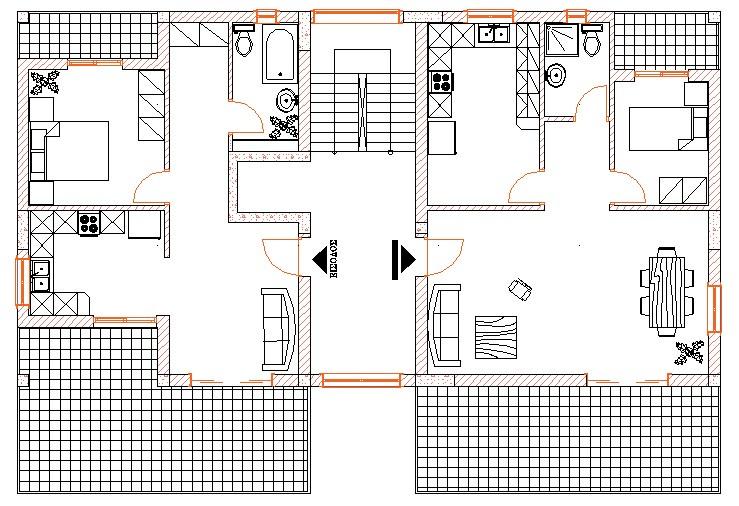 Σχήμα 5.3β: Κάτοψη οικοδομής.