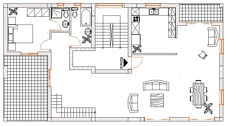 Σχήμα 5.3γ: Κάτοψη οικοδομής.