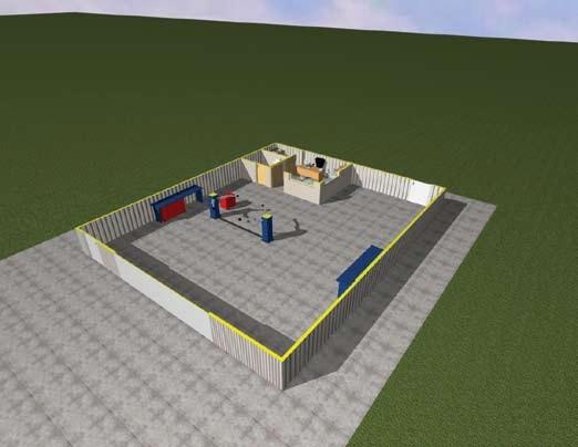 Σχέδιο 5.6: Οριζόντια τομή συνεργείου.