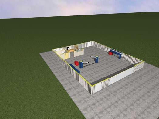 Σχέδιο 5.9: Οριζόντια τομή συνεργείου.