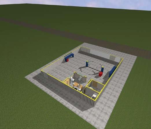 Σχέδιο 5.12: Οριζόντια τομή συνεργείου.