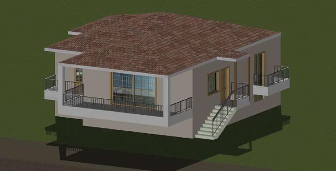 Σχέδιο 5.14: Τρισδιάστατο σχέδιο μονοκατοικίας.