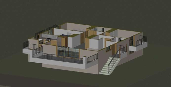 Σχέδιο 5.16: Οριζόντια τομή μονοκατοικίας.