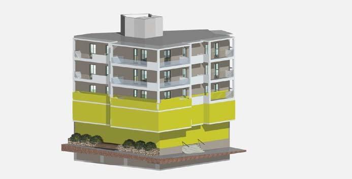 Σχέδιο 5.24: Ύψος επιπέδου οριζόντιας τομής πολυκατοικίας.