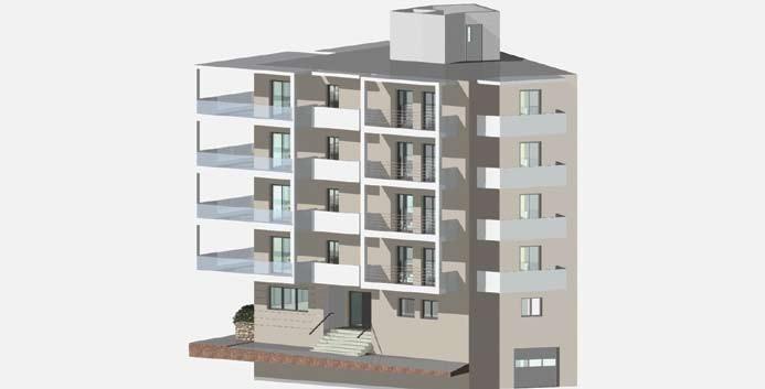 Σχέδιο 5.26: Τρισδιάστατο σχέδιο πολυκατοικίας.