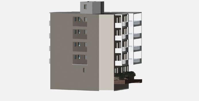Σχέδιο 5.29: Τρισδιάστατο σχέδιο πολυκατοικίας.