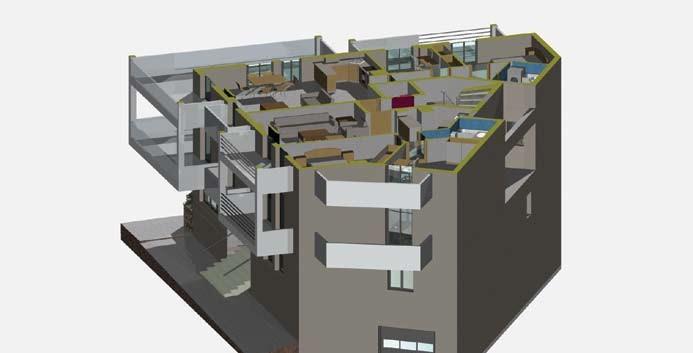 Σχέδιο 5.28: Οριζόντια τομή πολυκατοικίας.