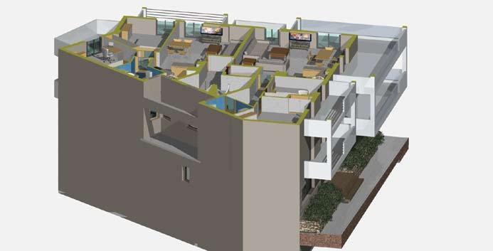 Σχέδιο 5.31: Οριζόντια τομή πολυκατοικίας.