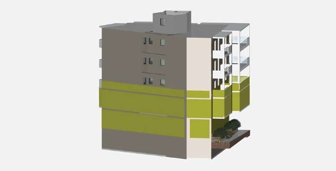 Σχέδιο 5.30: Ύψος επιπέδου οριζόντιας τομής πολυκατοικίας.