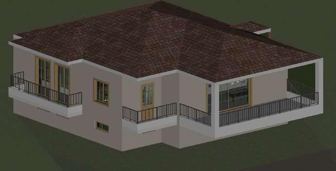 Σχέδιο 5.17: Τρισδιάστατο σχέδιο μονοκατοικίας.