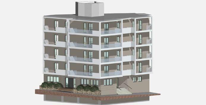 Σχέδιο 5.23: Τρισδιάστατο σχέδιο πολυκατοικίας.