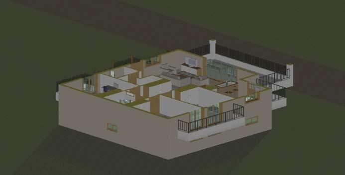 Σχέδιο 5.22: Οριζόντια τομή μονοκατοικίας.