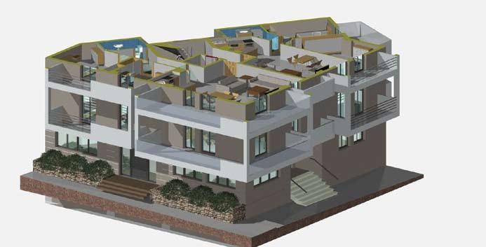 Σχέδιο 5.25: Οριζόντια τομή πολυκατοικίας.