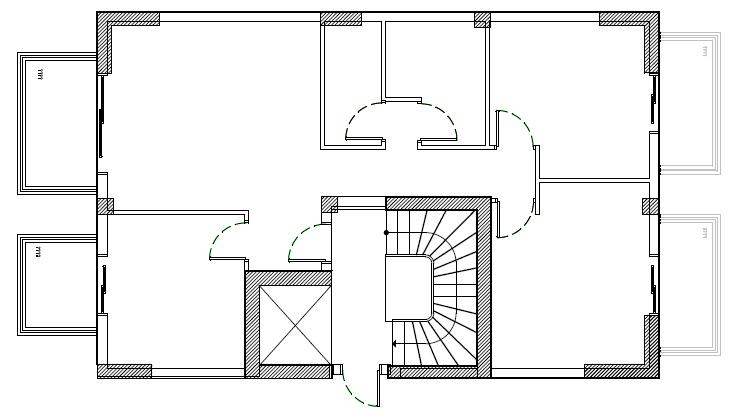 Σχήμα 5.3: Τυπική κάτοψη οικοδομής