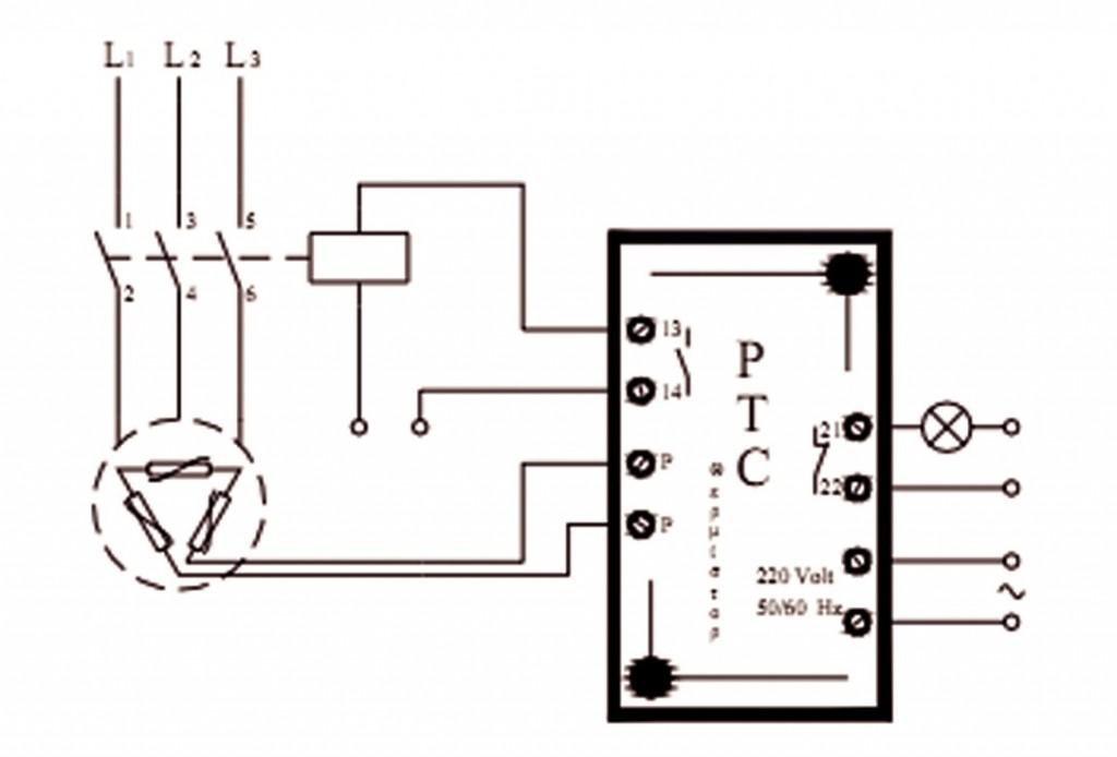 Σχήμα 7.8: Προστασία με θερμίστορ