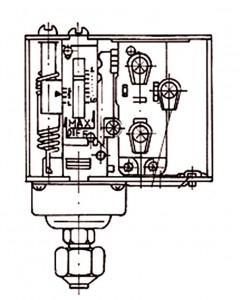 Σχήμα 7.10: Πιεζοστάτης λαδιού διαφορικής πίεσης και χρονικής καθυστέρησης