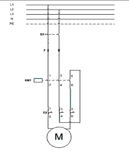 Σχήμα 7.16: Κύκλωμα ισχύος εκκίνησης μονοφασικού κινητήρα