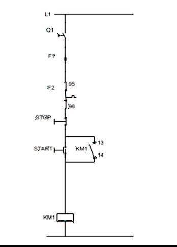 Σχήμα 7.19: Βοηθητικό κύκλωμα εκκίνησης τριφασικού κινητήρα