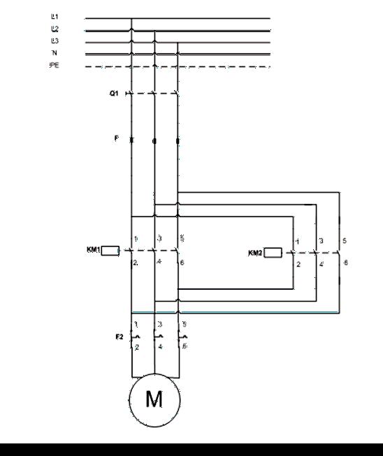 Σχήμα 7.20: Κύκλωμα Ισχύος αλλαγής φοράς περιστροφής τριφασικού κινητήρα
