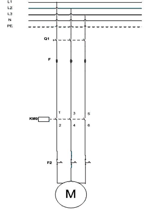 Σχήμα 7.24: Κύκλωμα ισχύος συστήματος αντλίας πετρελαίου