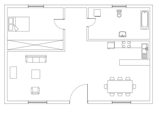 Σχήμα 6.47: Κάτοψη οικίας.