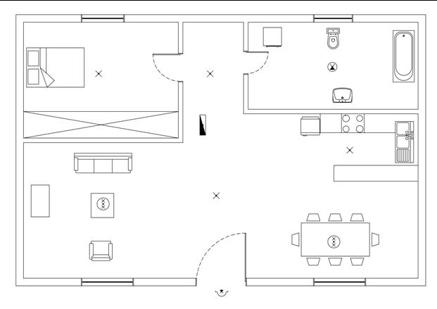 Σχήμα 6.49: Τοποθέτηση φωτιστικών σημείων.