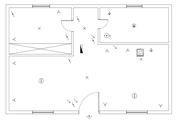 Σχήμα 6.53: Κάτοψη χωρίς αρχιτεκτονικές λεπτομέρειες.
