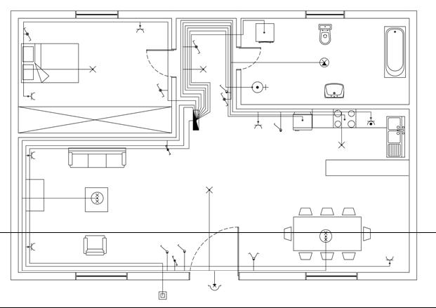 Σχήμα 6.59: Σύνδεση πίνακα με παροχή.
