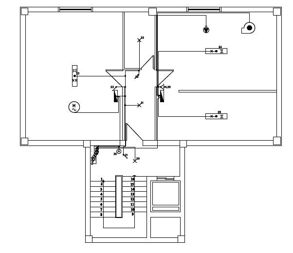 Σχήμα 6.64: Σχέδιο ηλεκτρολογικής εγκατάστασης υπογείου