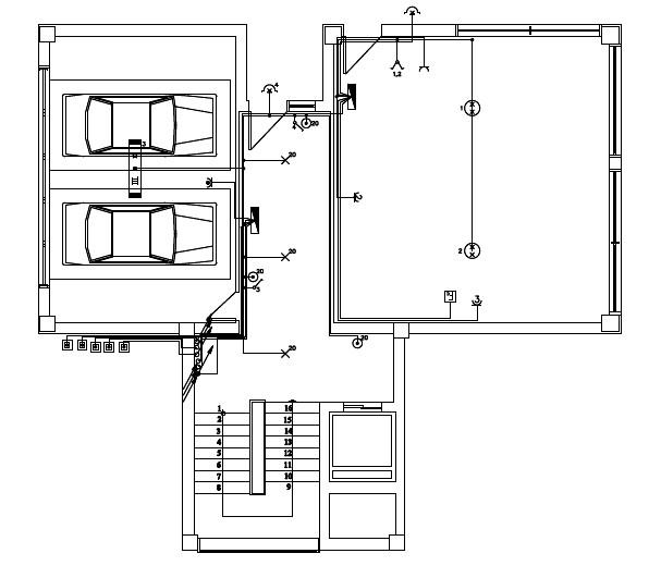 Σχήμα 6.65: Σχέδιο ηλεκτρολογικής εγκατάστασης ισογείου