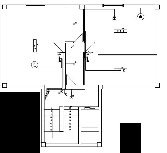 Σχήμα 6.68: Μονογραμμικόσχέδιο ηλεκτρικού πίνακα