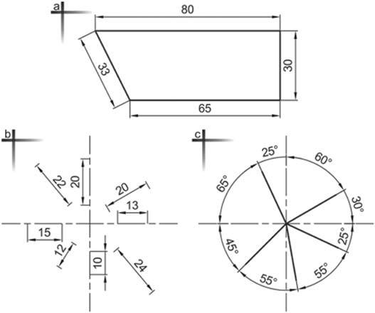Σχήμα 4.31: Ορθή καταχώρηση γραμμικών και γωνιακών διαστάσεων.