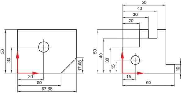 Σχήμα 4.32: Τοποθέτηση διαστάσεων βάσει συστήματος αναφοράς.