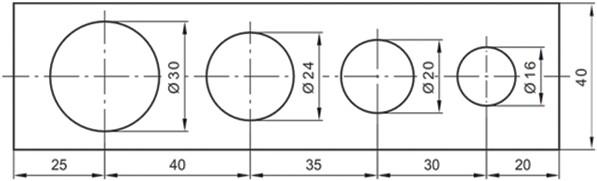 Σχήμα 4.34: Τοποθέτηση διαστάσεων σε σειρά.