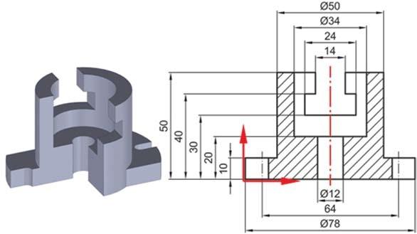 Σχήμα 4.35: Τοποθέτηση διαστάσεων σε συμμετρικά αντικείμενα.