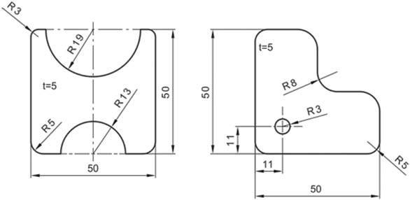 Σχήμα 4.37: Παραδείγματα καταχώρησης διαστάσεων ακτίνων.
