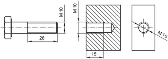 Σχήμα 4.41: Παραδείγματα καταχώρησης διαστάσεων σε σπειρώματα.