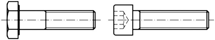 Σχήμα 4.51: Σχεδιασμός σπειρώματος σε κοχλίες.