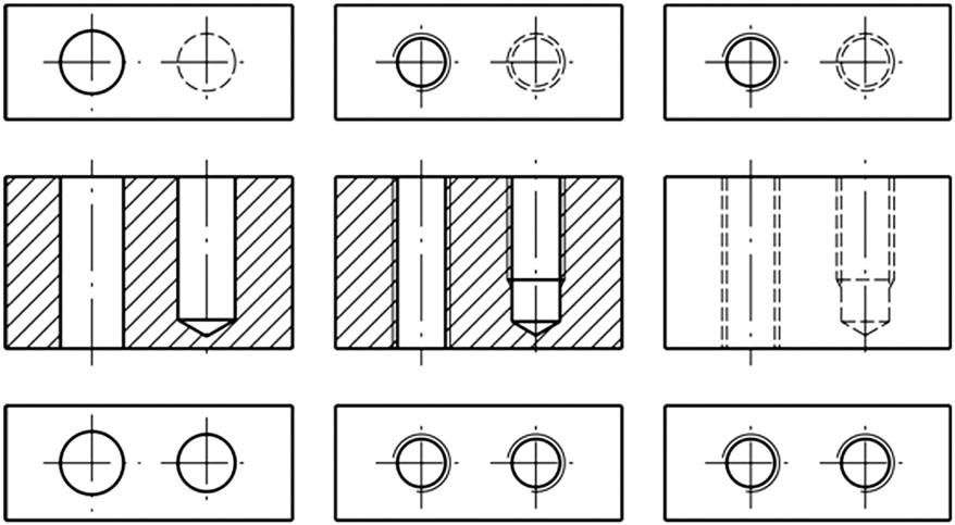Σχήμα 4.50: Σχεδιασμός οπών με σπείρωμα.